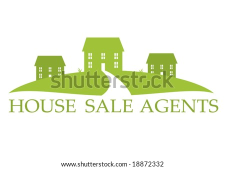Vector House Sale or Construction - stock vector