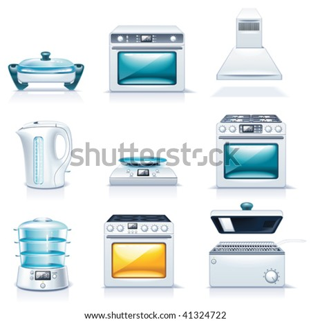 Vector household appliances icons. Part 2 - stock vector