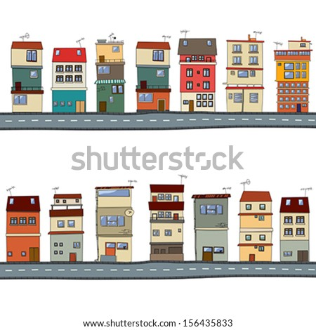 Vector houses set - stock vector