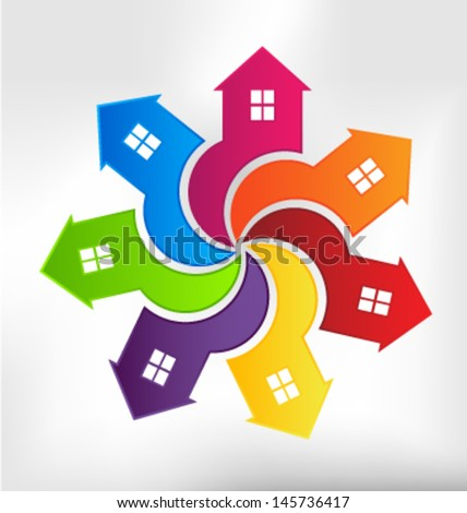 Vector Houses United - stock vector