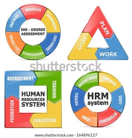 Vector HRM Diagrams - stock vector