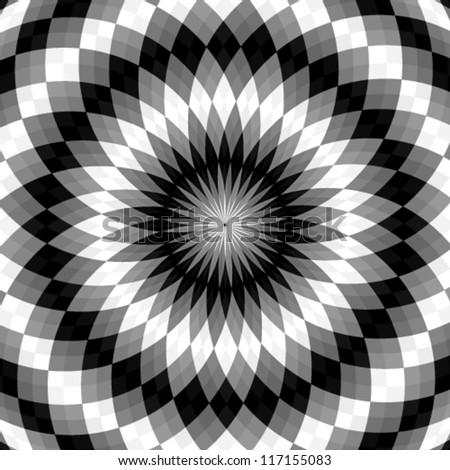 Vector. Hypnotic background - stock vector