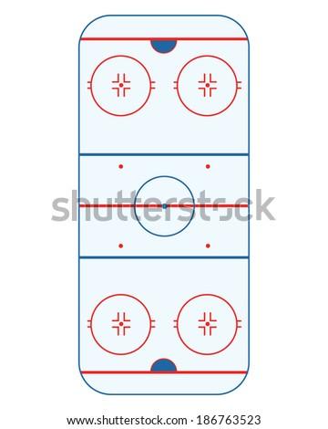 Vector Ice Hockey Rink  - stock vector