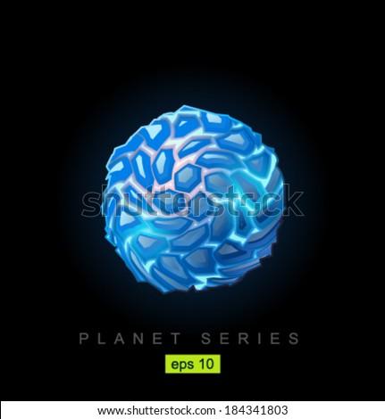 Vector ice planet - stock vector