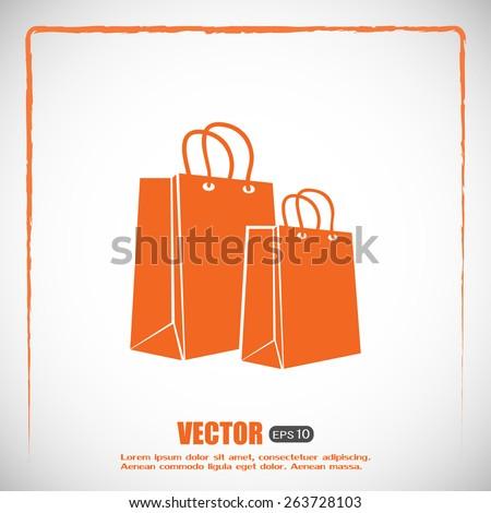 Vector icon bag - stock vector
