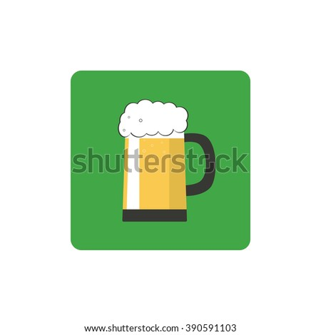 Vector Icon beer. Vector Icon beer design for the St. Patrick's Day. - stock vector