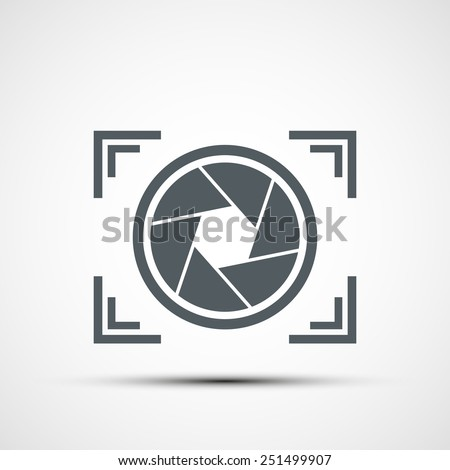 Vector icon camera - stock vector