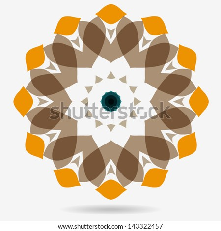 vector icon,design element,geometric symbol of the complex structure - stock vector