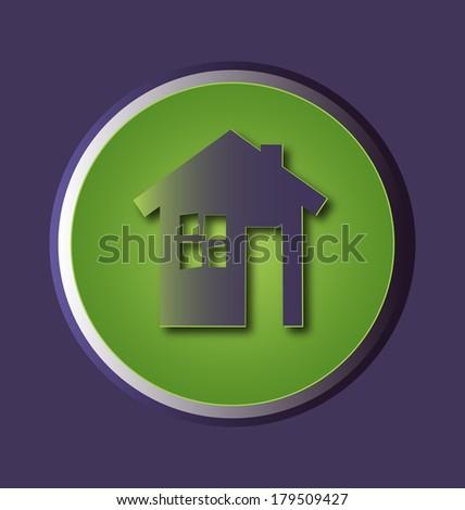 vector icon eco house - stock vector