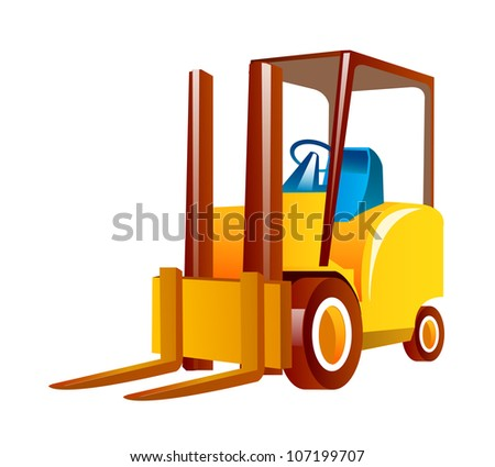 vector icon forklift - stock vector