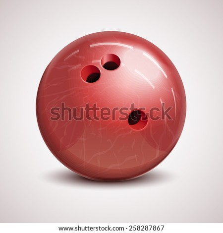 vector icon/ illustration of bowling ball - stock vector