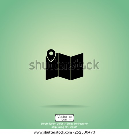 vector icon illustration on green background. - stock vector