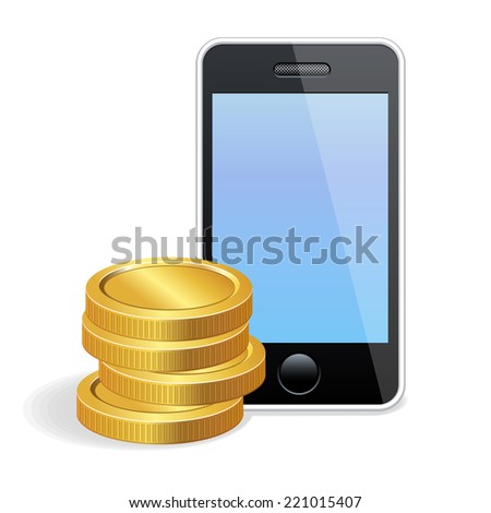 Vector icon mobile payment - stock vector