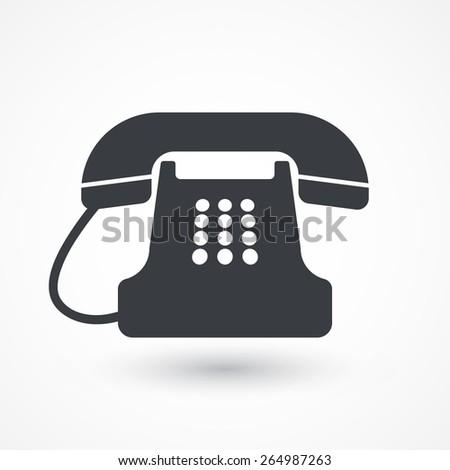 Vector icon of a phone - stock vector