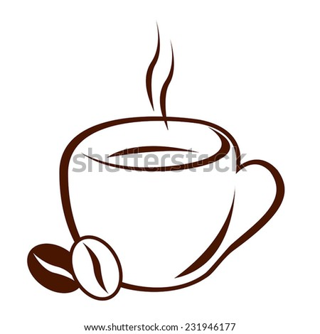 Vector. Icon of coffee cup - stock vector