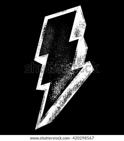 vector icon of lightning - stock vector