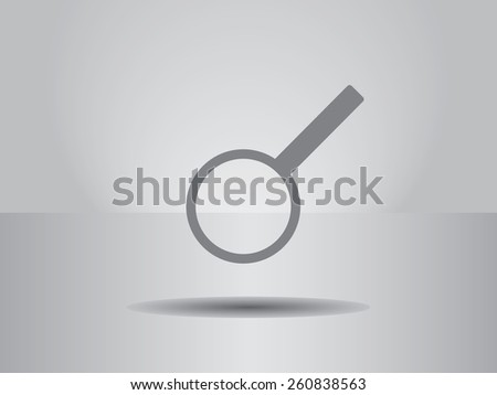 Vector icon of magnifying glass. - stock vector
