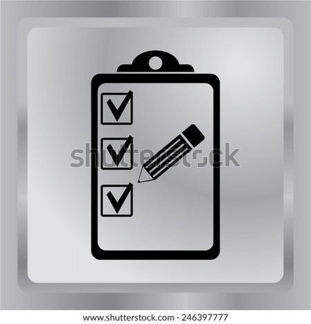 Vector icon of organizer. - stock vector