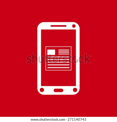 Vector icon of phone. Flat design style. - stock vector