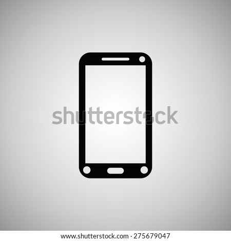 Vector icon of phone. Flat design style - stock vector