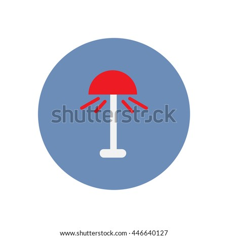 Vector icon on the white backgrounds in circles  floor lamp - stock vector