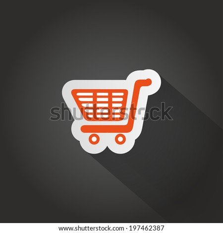 vector icon orange on a dark background - stock vector