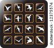 Vector Icon Set for birds - stock vector