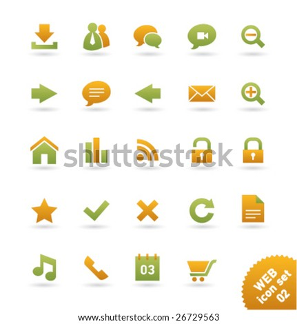 Vector icon set WEB [02] - stock vector