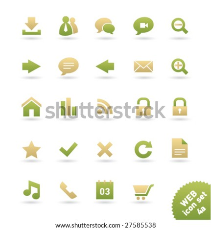 Vector icon set WEB [04a] - stock vector