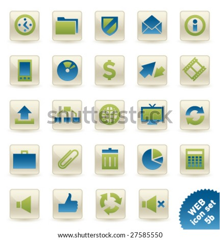 Vector icon set WEB [05b] - stock vector