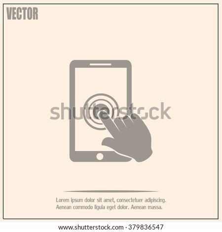 Vector icon Smartphone touchscreen icon concept  - stock vector