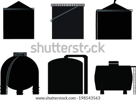 vector, icon storage tank for oil - stock vector