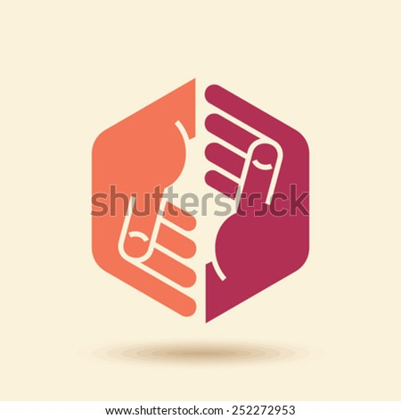Vector Icon Teamwork concept - stock vector