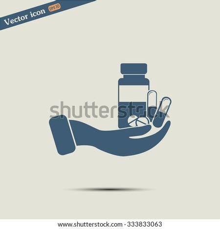 Vector icon Vial of medicine  - stock vector