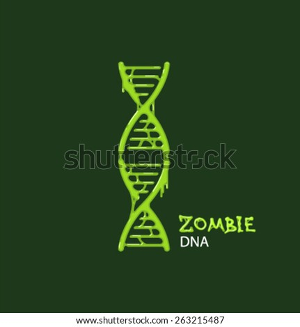 Vector icon ZOMBIE DNA structure - stock vector