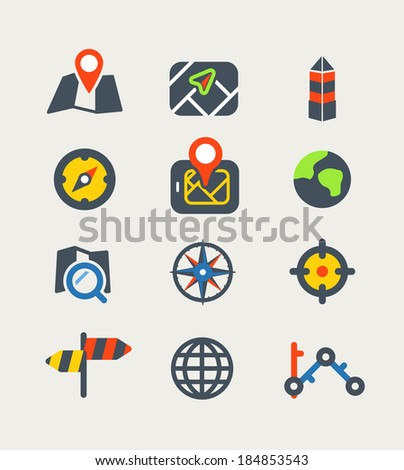 Vector icons - stock vector