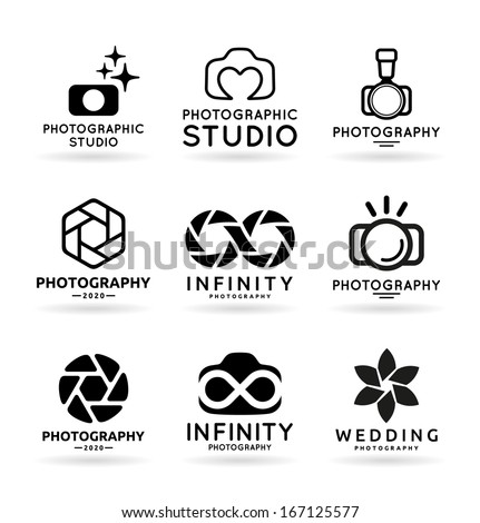 Vector Icons For Photographers (5) - stock vector