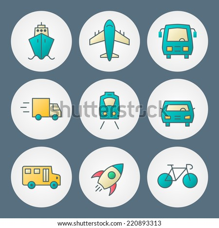 Vector icons set. For web site design and mobile apps - stock vector