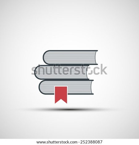 Vector icons stacks of books - stock vector