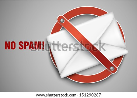 Vector icons stop spam - stock vector