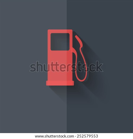 "Vector icons with shadow on gray background ""fuel"" - stock vector"