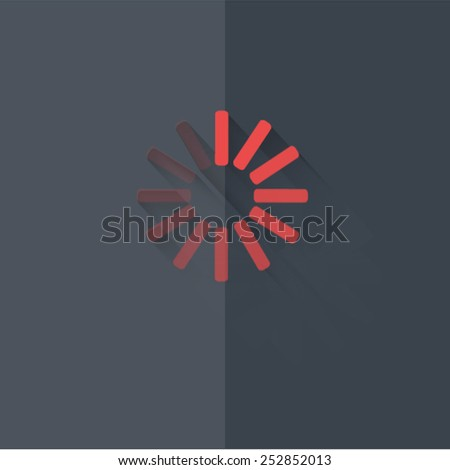 "Vector icons with shadow on gray background ''waiting"" - stock vector"