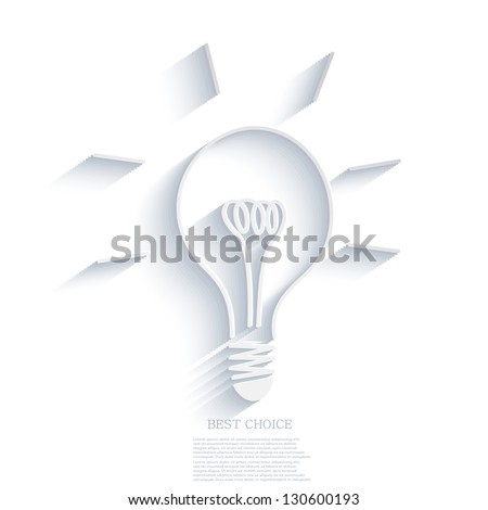 Vector idea background. Eps10 - stock vector
