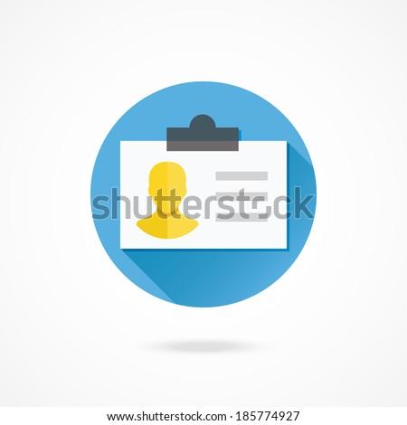 Vector Identification Card Icon - stock vector