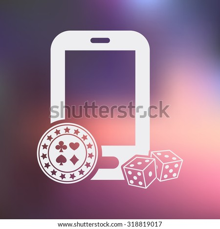 Vector illustartion of poker and gambling icon - stock vector