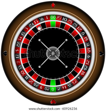 vector illustrated roulette - stock vector