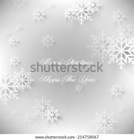 Vector illustration abstract 2015 Christmas Background - eps10 - stock vector