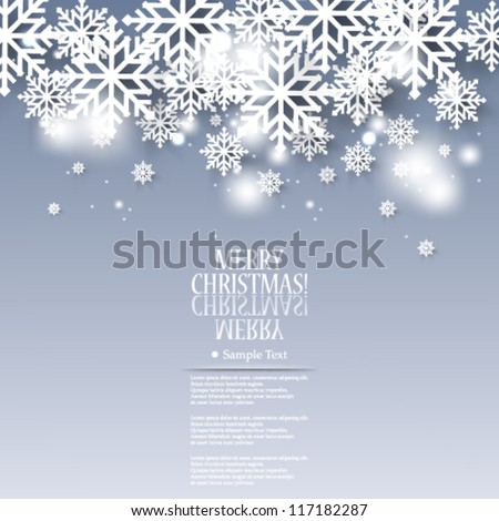 Vector illustration abstract Christmas background snow flakes - eps10 - stock vector