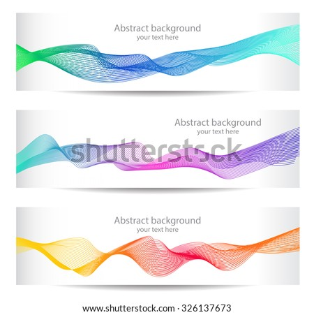 Vector illustration, Abstract colorful lines. - stock vector
