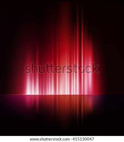 Vector illustration Abstract dark background with shiny light lines - stock vector